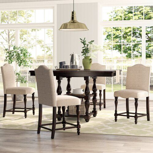 Birch Lane Heritage Foster 5 Piece Counter Height Dining Set Reviews Wayfair Counter Height Dining Room Tables Dining Room Sets Beautiful Dining Rooms