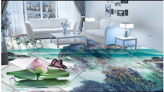 (Buy here: http://appdeal.ru/20h6 ) 3d photo wallpaper custom 3d flooring painting wallpaper murals Ink painting wind 3d floor 3d wallpaer living room for just US $61.11