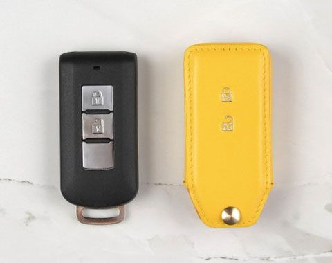 Custom Made To Fit Coaster Genuine Leather Key Fob Cover For Mitsubishi Lancer Custom Made To Fit The Year Make M Leather Key Leather Key Fobs Mitsubishi