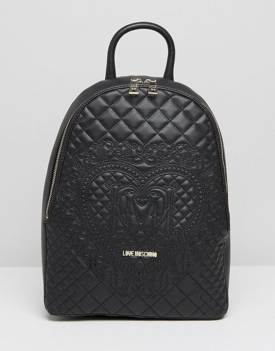 Love Moschino Quilted & Embossed Backpack | Moschino ...