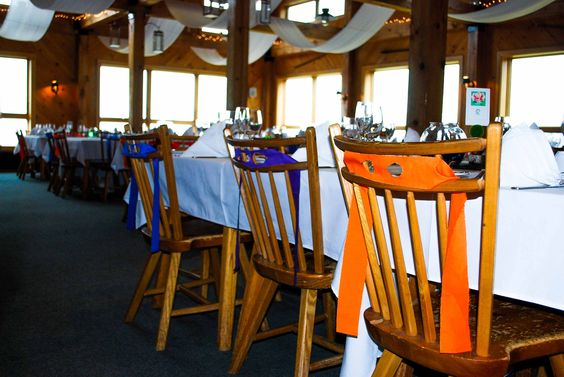 Ninja turtle themed wedding! Bandanas on the chairs