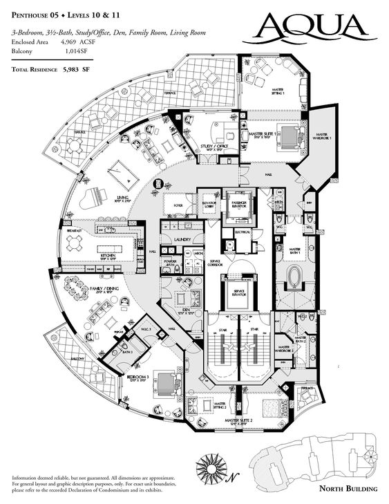 Luxury floor plans naples and floors on pinterest - Lay outs penthouse ...