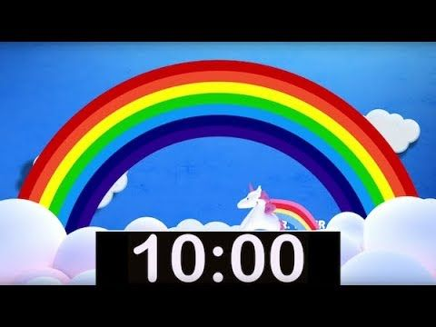 10 Minute Rainbow Timer With Music Countdown Timer For Kids Music For Kids Countdown Timer Timer