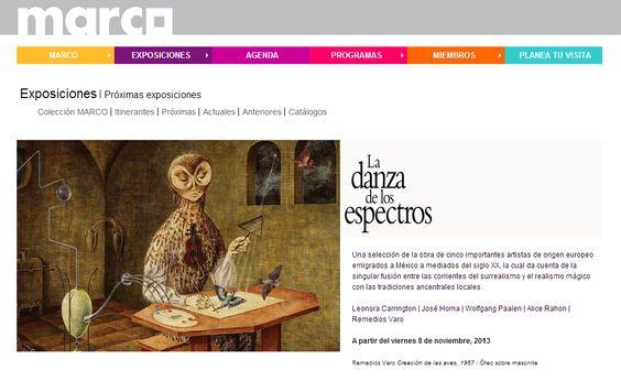 """Disfruta de más de 100 piezas entre pinturas, dibujos, grabados y esculturas de importantes artistas como Leonora Carrington y Remedios Varo en """"La Danza de los Espectros"""" dará inicio el 18 de de noviembre en el Museo de Arte Contemporáneo de Monterrey, Museo MARCO."""