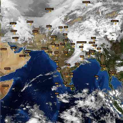 Latest INSAT Satellite Image Of India For March Httpwww - World weather live satellite view