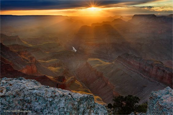 Sunburst Over Grand Canyon
