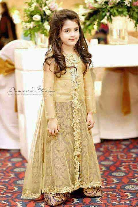 Golden Baby Wedding Gown For Girls Kids Dress Kids Designer Dresses Wedding Dresses For Girls