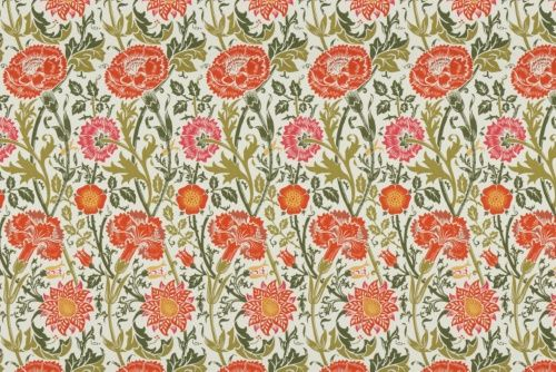 Pretty flower pattern, I'd love to make a dress out of this.