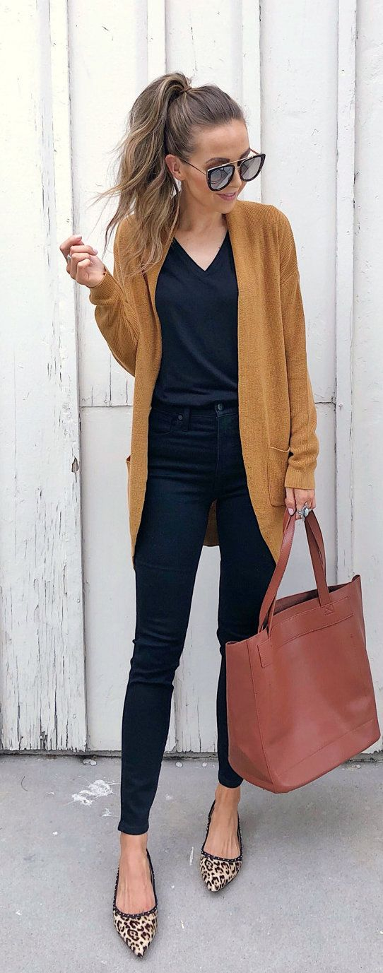 #summer #outfits brown cardigan.