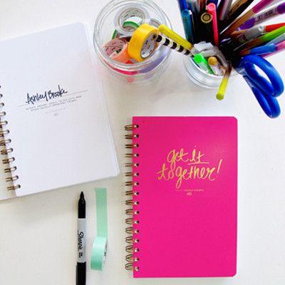 Get It Together Spiral Notebook, $26.00 #notebook #pink #getittogether #spiral #ashleybrookedesigns #singlethreadbtq #shopstb #boutique