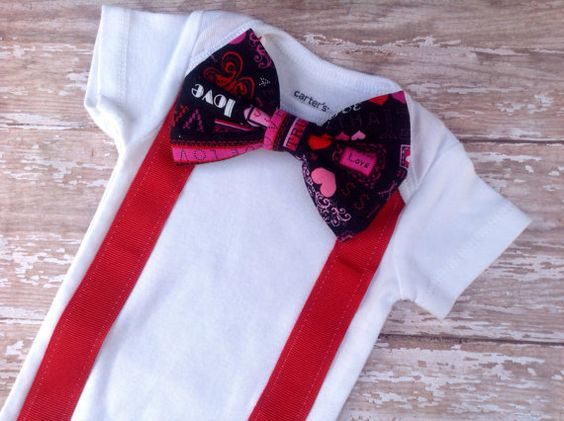 Baby Boy Valentin's Day Outfit Red by sherbetwithsprinkles on Etsy
