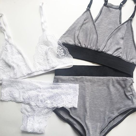 There is a set to suit anybody 💭 From our White Classic Bralet & Thong to our Grey Luxe Bralet & High waisted Pants ⚡️🙌🏼 Shop our full range of products on the website, link in bio!. #ellicelydia #madetomeasure #instalingerie #handmadelingerie #bodyconfident #instalike  #photooftheday #flatlay