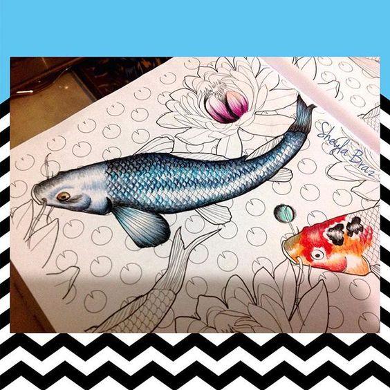 Instagram media sheylabrazs - Em construção...(treinando para o oceano perdido rsrsr ) #jardimencantado #carpas #livrosdecolorir #livrodecolorir #coloringbooks