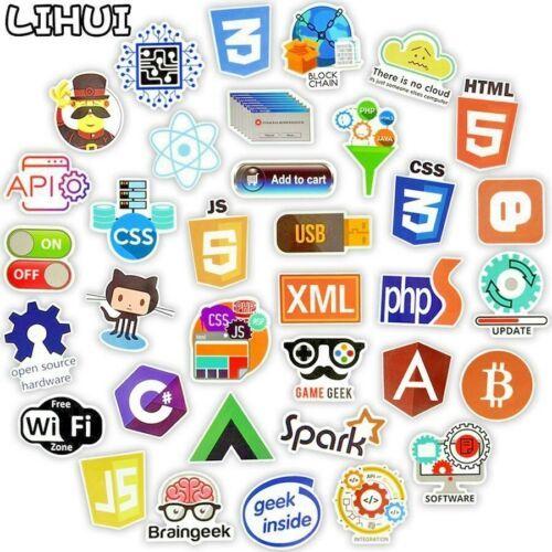 50pcs Internet programmers Developer Web Hacker Funny Sticker Decal For Laptop