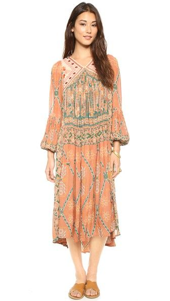 Free People Pink City midi dress
