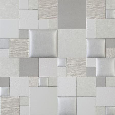 Mosaic essentia arctic ice nappatile faux leather wall for Faux leather floor tiles