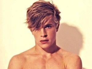 coiffure homme visage rond et blonds