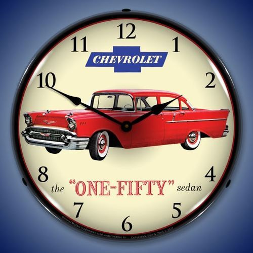 1957 Chevrolet One Fifty Led Lighted Wall Clock 14 X 14 Inches Wall Clock Light Advertising Clocks Clock