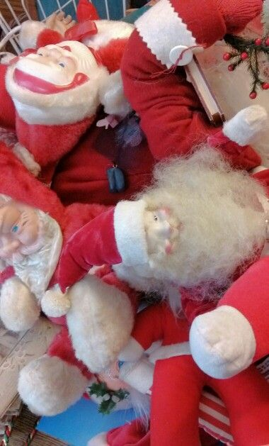 Piles of Santas to put out.