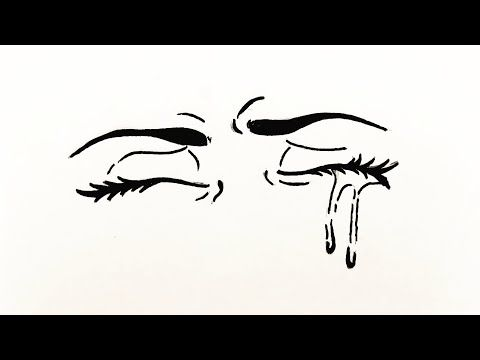 How To Draw Anime Eyes Crying Easy كيفية رسم عين انمي تبكي خطوة بخطوة رسم سهل بالرصاص للمبتدئين Youtube Eyes Okay Gesture