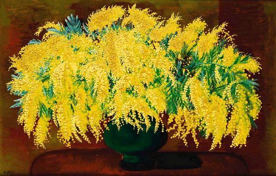 Moise Kisling  (1891-1953) — Mimosas  (950x606):
