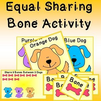 Equal Sharing Printable Activity / First Division / Math Center ...