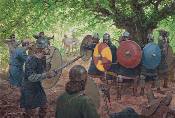Nueva imagen sobre la conquista sajona por parte de las tropas de Carlomagno, que es esta imagen parecen haber caído en una emboscada. Más en www.elgrancapitan.org/foro