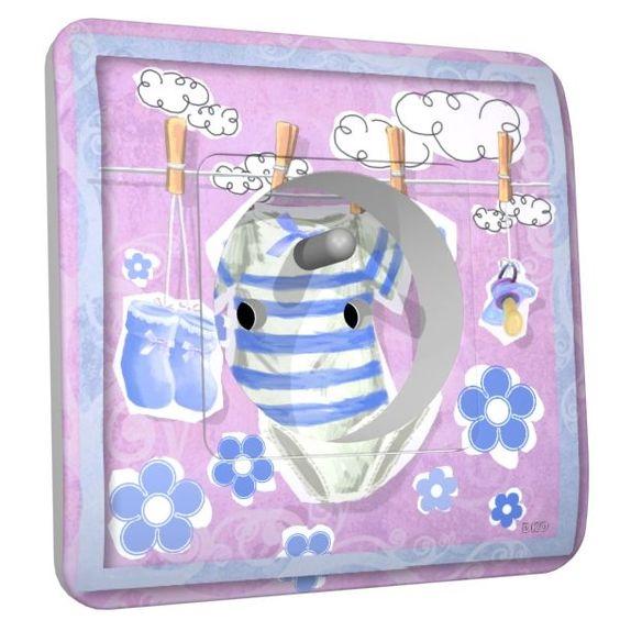 Prise déco Baby Body Bleu 2 pôles + terre - DKO Interrupteur