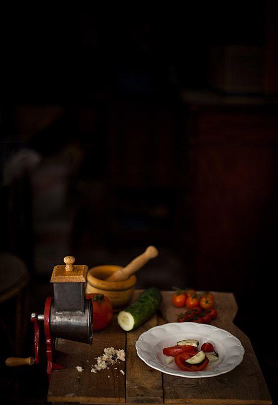 Receta 160: Gazpacho en trozos » 1080 Fotos de cocina