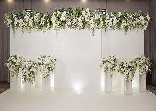 Amazon Com Wedding Backdrop Romantic Flowers Bride Groom