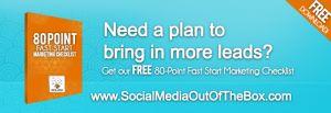 80 Point Fast Start Marketing Checklist  FREE DOWNLOAD!
