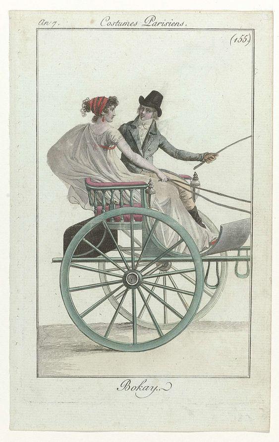 Journal des Dames et des Modes, Costume Parisien, 1 septembre 1799, An 7 (155)…