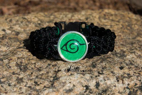 Village of the Hidden Leaf Chunkies Bracelet by SubtleNerd on Etsy, $18.00