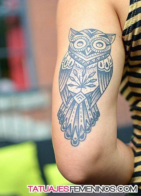 tatuajes de buhos para mujeres 1