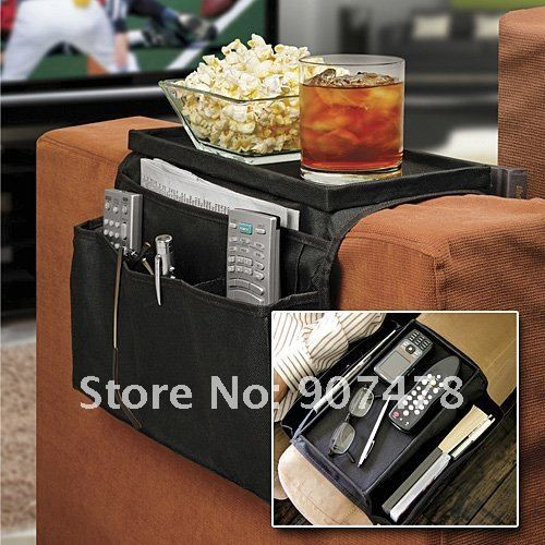 Sofa-Chair-Arm-Rest-Organizer-6-Pocket-With-Table-Top.jpg: Organizer Remote, Organizer, Remote Control Holder, Arm Rest, Couch Arm, Gift Ideas, Armrest Organizer, Pockets Sofa
