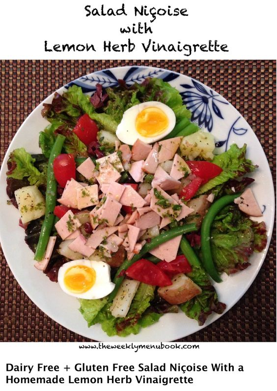 Green beans are in season and the herbs are growing in the garden! It's the perfect time to make Salad Niçoise! http://theweeklymenubook.com/2016/05/23/salad-nicoise-glutenfree-caseinfree/