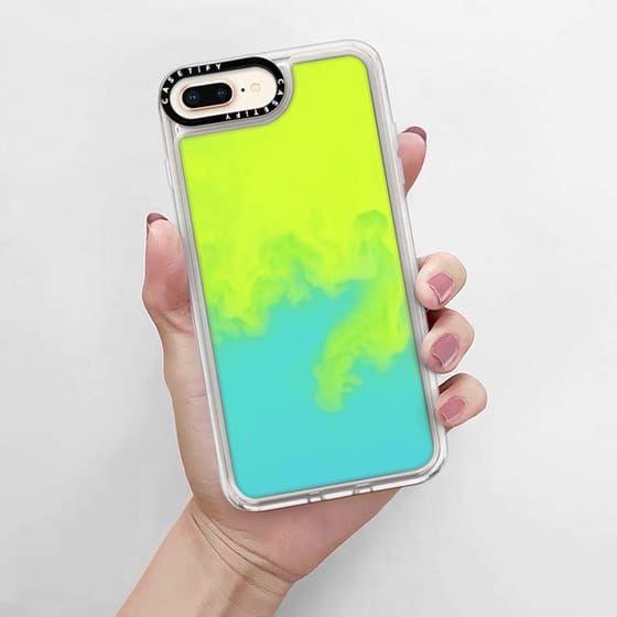 Iphone 8 Plus Cases Neon Sand Liquid Case Casetify Iphone Case Iphone Phone Cases Neon Iphone Case
