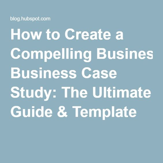 Study Templates And Case Study On