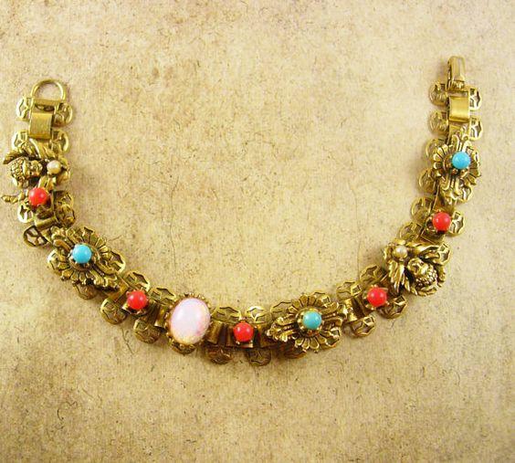 Antique Bookchain Victorian bracelet Cherubs by vintagesparkles, $135.00