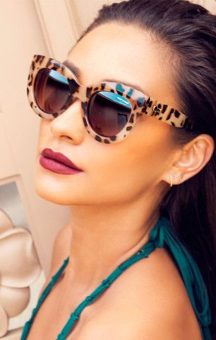 Show your leopard love in these glam Quay x Shay Mitchell sunnies