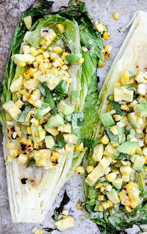 Grilled romaine salad, Romaine salad and Salads on Pinterest