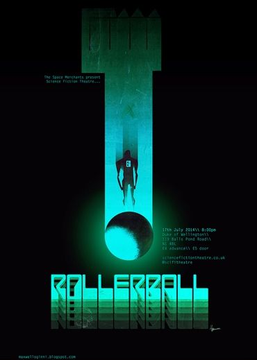 Original film poster by Max Oginni, designed exclusively for Science Fiction Theatre (www.sciencefictiontheatre.co.uk)