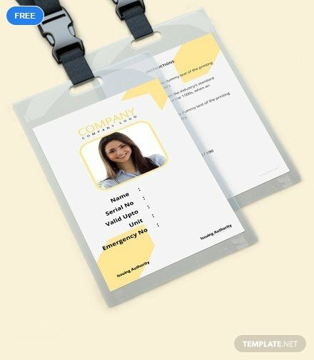 Simple Blank Id Card Template Word Apple Pages Publisher Id Card Template Free Business Card Templates Card Templates Free