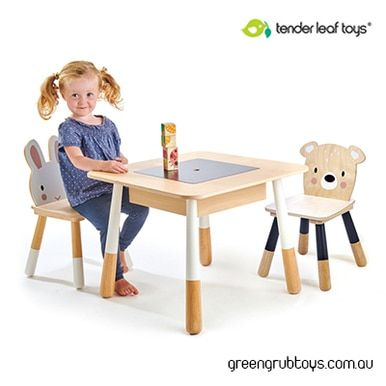 Tender Leaf Wooden Kids Table And Chairs W Free Shipping 3 Piece Furniture Set Table Chairs Kids Table Chairs Plywood Table