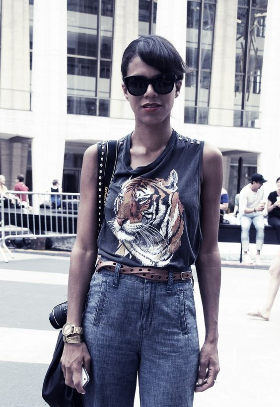 Urban Streetwear, Tiger Graphic T Shirt, Retro Tiger Shirt, Graphic Tee, Tiger Print Top