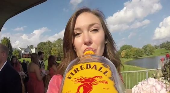 Someone Strapped A GoPro Camera To A Whiskey Bottle At A Wedding, And The Result IsMagical