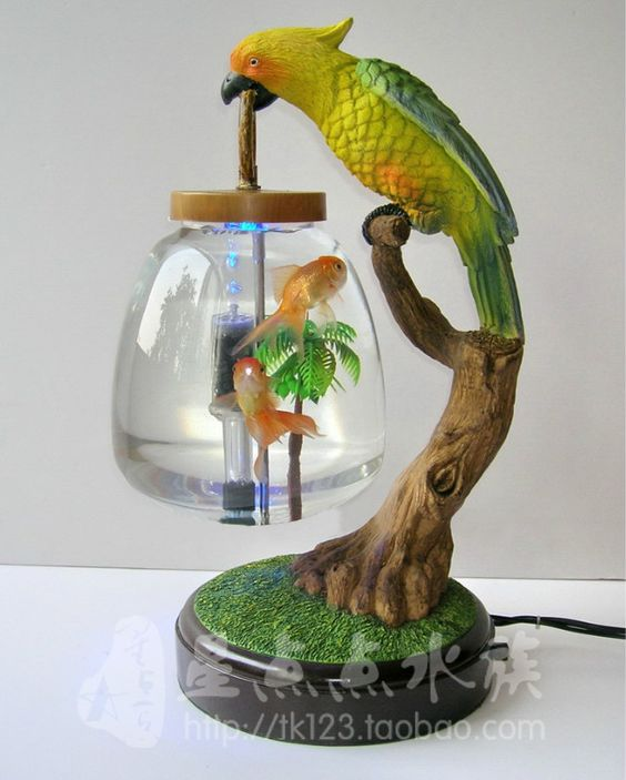 table lamp fish tank mini fish tank goldfish bowl decoration led, Reel Combo
