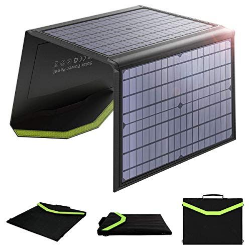 Wyyzss 60w Monocrystalline Solar Panel Foldable Solar Charger Dual 5v Usb 18v Dc Output Water In 2020 Solar Panel Charger Solar Charger Portable Generator