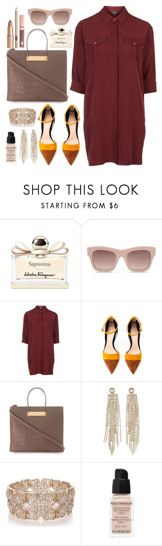 """""""It's summer somewhere :)"""" by anchilly23 ❤ liked on Polyvore featuring Salvatore Ferragamo, STELLA McCARTNEY, Topshop, Gianvito Rossi, Balenciaga, Charlotte Russe, Oasis and Givenchy"""