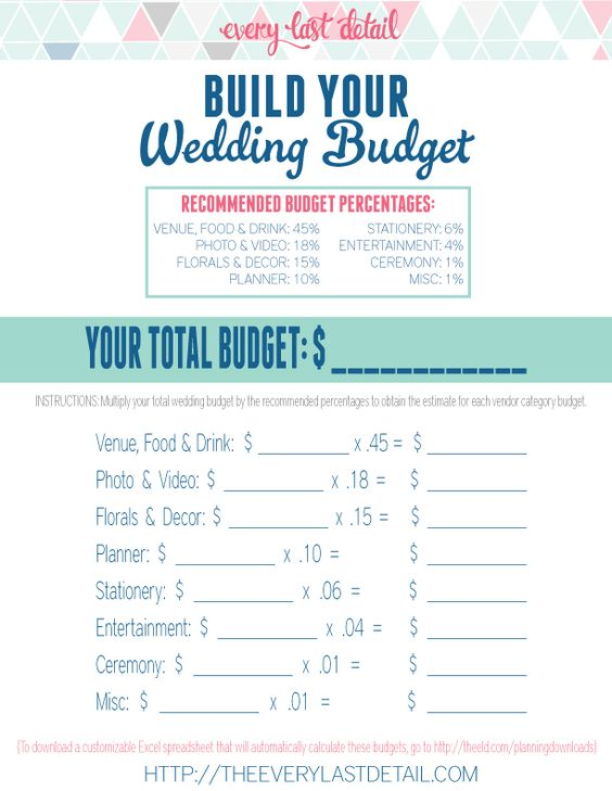 Wedding Budget And Worksheets On Pinterest